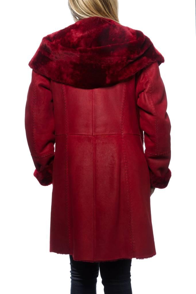 veste peau lain e louis campoy 2108 rouge revacuir. Black Bedroom Furniture Sets. Home Design Ideas