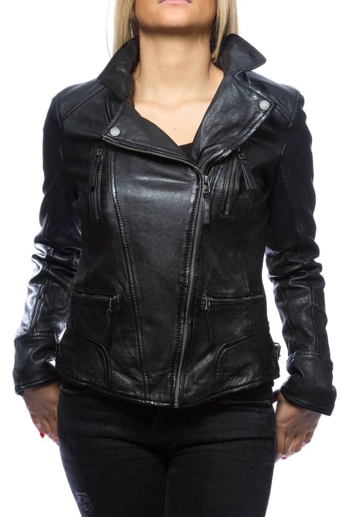 Blouson cuir femme oakwood noir