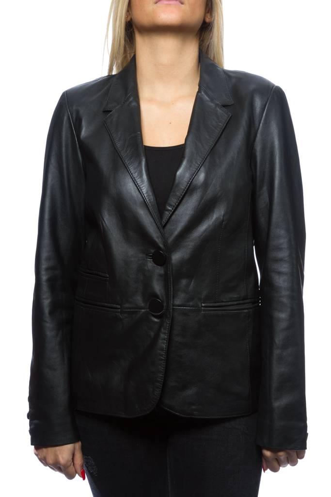 blazer cuir femme oakwood cindy noir revacuir. Black Bedroom Furniture Sets. Home Design Ideas