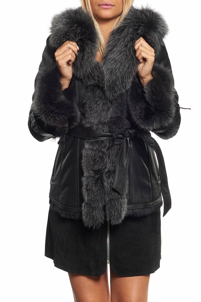 Promo manteau femme fourrure lapinrenard giovanni newone