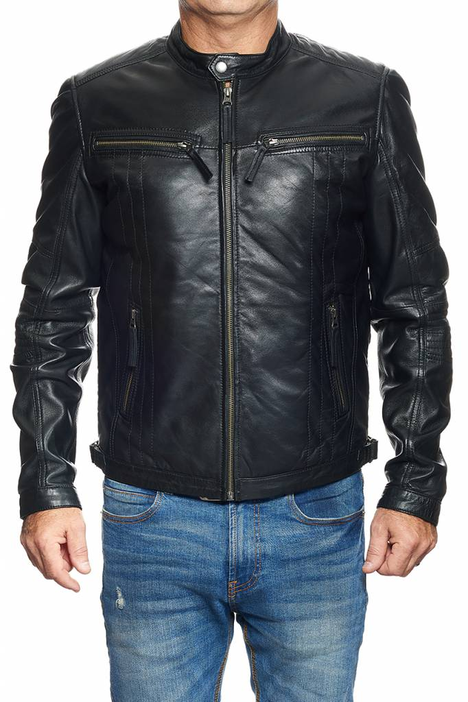 blouson cuir noir