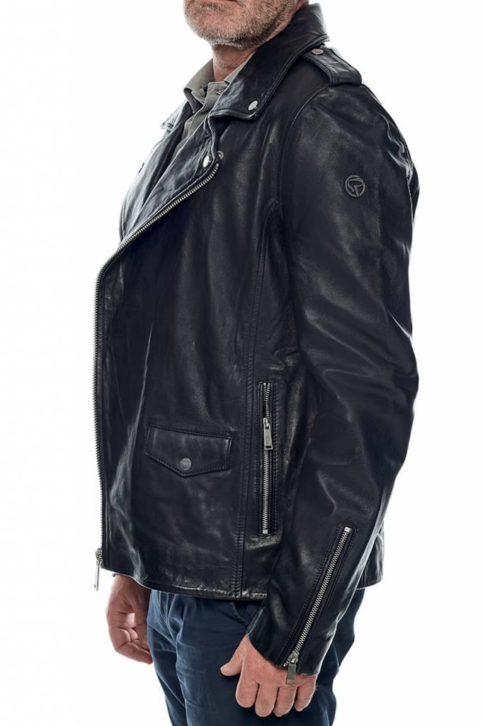 Getty Black Dyer Perfecto Cuir Redskins Homme Revacuir vXq1RwaWI