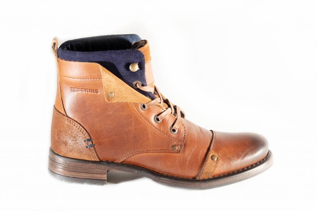 bon marché rencontrer sur des coups de pieds de Chaussures homme redskins yedes cognac marine - Revacuir