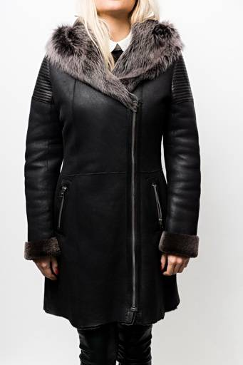 veste peau lainée giorgio rouxandra