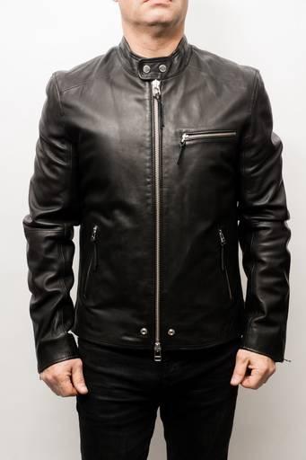 Blouson cuir Redskins Jack Vega noir.