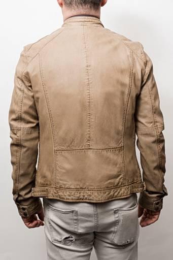 NOUVELLE COLLECTION Blouson cuir Oakwood Casey beige.