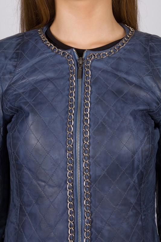 blouson cuir lpb femme bleu mamamia vente blouson en cuir. Black Bedroom Furniture Sets. Home Design Ideas