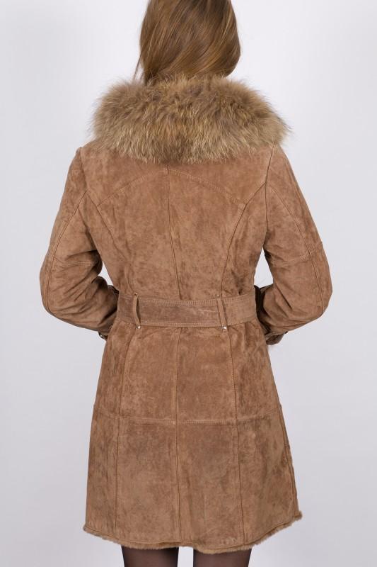manteau en fourrure lpb femme beige 2berry vente blouson en cuir pas cher revacuir revacuir. Black Bedroom Furniture Sets. Home Design Ideas