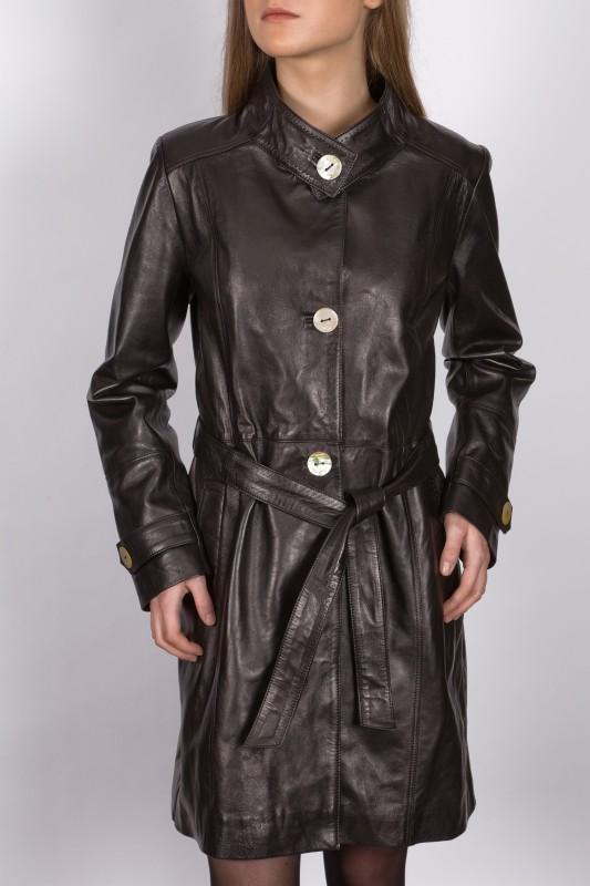 manteau en cuir revacuir femme noir 2irina revacuir. Black Bedroom Furniture Sets. Home Design Ideas