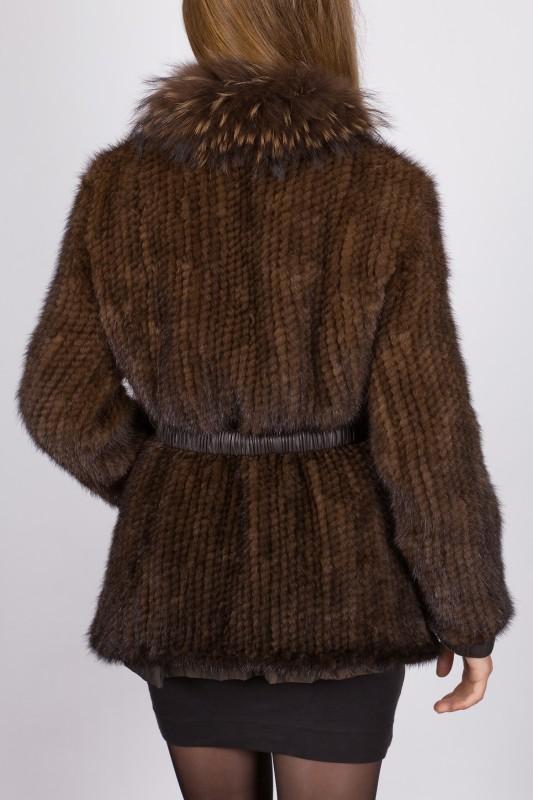manteau en vison revacuir femme marron 6507vtm revacuir. Black Bedroom Furniture Sets. Home Design Ideas