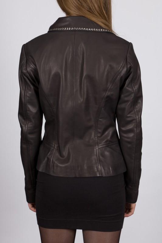 perfecto en cuir revacuir femme noir ella vente blouson. Black Bedroom Furniture Sets. Home Design Ideas