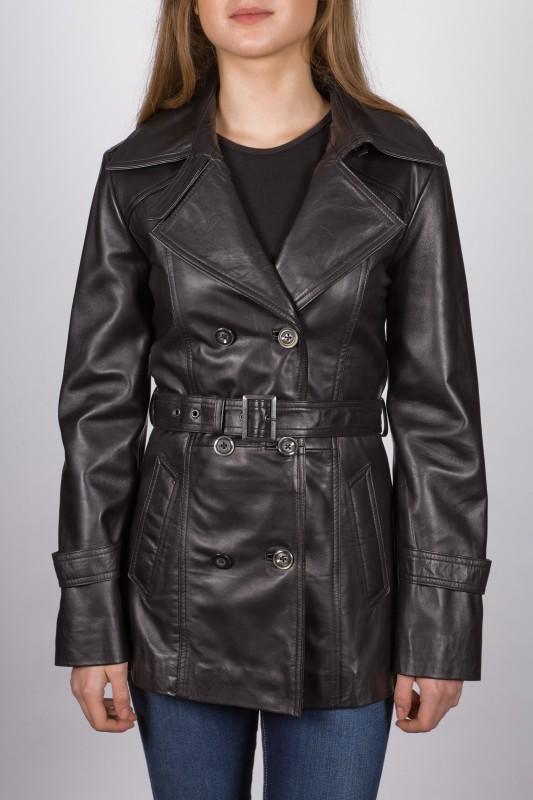 veste en cuir revacuir femme noir fabricia vente blouson. Black Bedroom Furniture Sets. Home Design Ideas