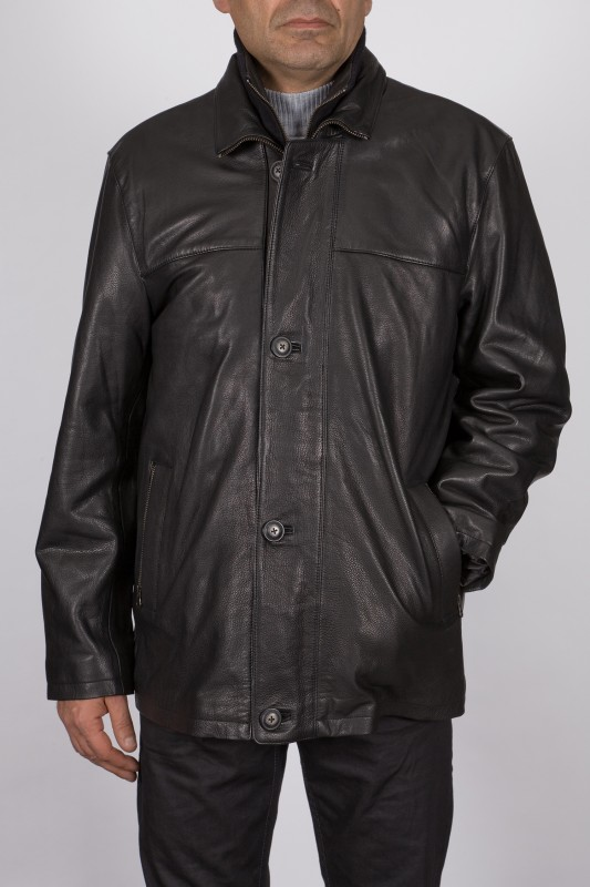 Veste en cuir Daytona homme noir Hartford.