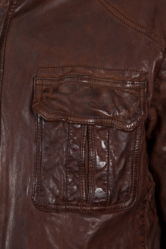 veste en cuir daytona homme marron vieilli ricardo vente blouson en cuir pas cher revacuir. Black Bedroom Furniture Sets. Home Design Ideas