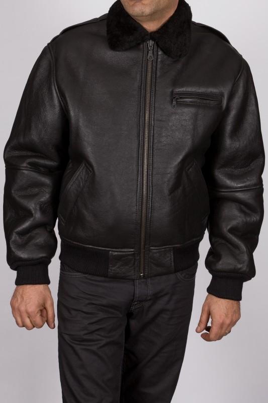 Blouson en peau Revacuir homme noir PiloteB52
