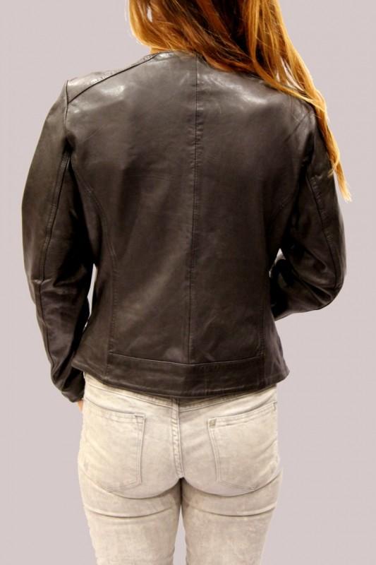 Blouson en cuir lpb femme noir birdy - REVACUIR 3db8ef9070f