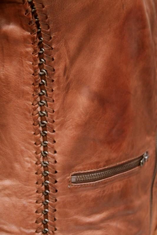 Blouson en cuir lpb femme marron birdy - REVACUIR ee73c3bdbde