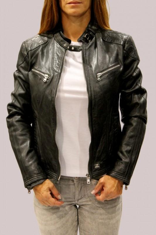 Veste cuir noir femme redskin