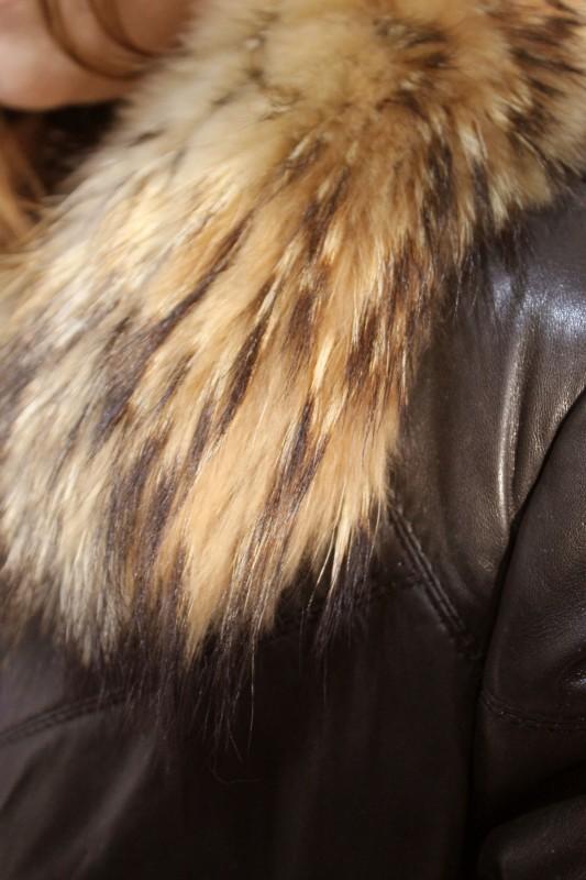 blouson en cuir et fourrure redskins femme noir lexington vente blouson en cuir pas cher. Black Bedroom Furniture Sets. Home Design Ideas