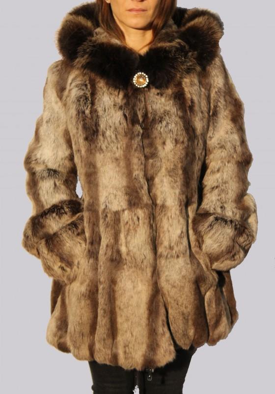 manteau en fourrure lpb femme beige zhqp126 revacuir. Black Bedroom Furniture Sets. Home Design Ideas