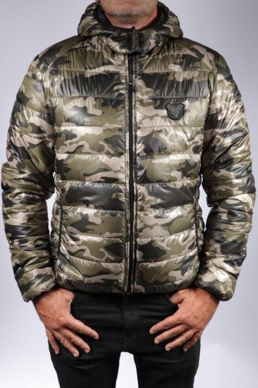 Doudoune en tissu Redskins homme Black / Camouflage