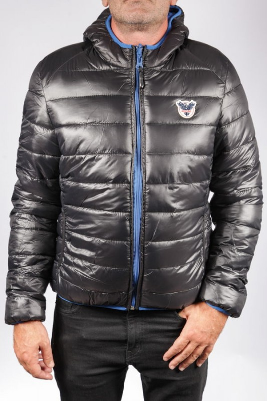 Doudoune en tissu Redskins homme Black / Work Blue