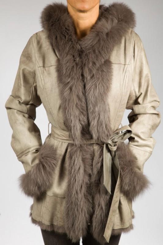 Veste fourrure femme Giovanni SHAKIRA LAPIN GRIS