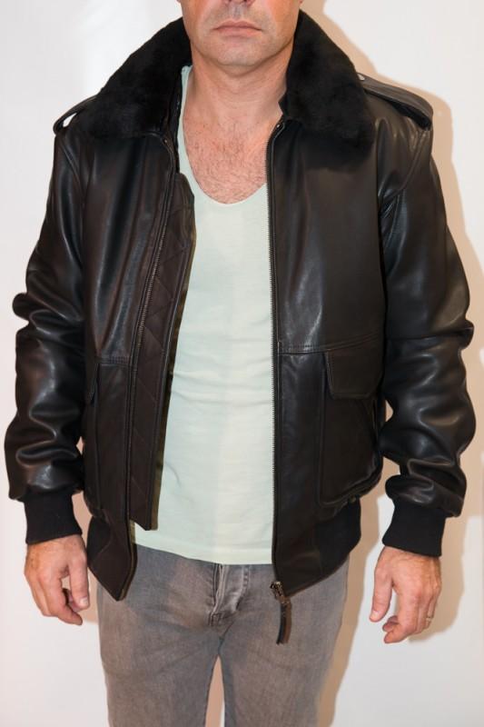 Blouson Cuir Homme Mac Douglas Gerry