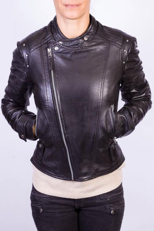 Blouson Cuir Femme LPB VIRGINIE BLACK
