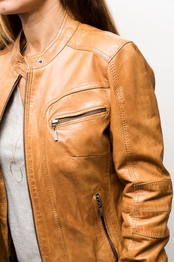 veste femme cuir camel eb3d36aa662