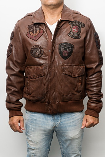 Blouson cuir homme Redskins Perry Cognac