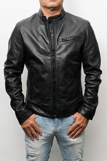 Blouson cuir Daytona Silver Black
