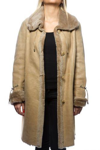 Manteau en peau lainée Revacuir femme arena Blanca.