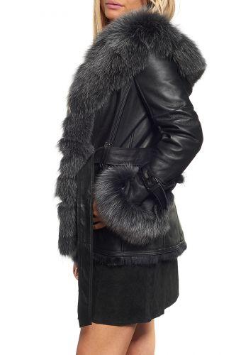 veste fourrure lapin pour dame