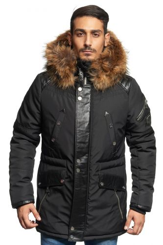 Veste Horpist Boss Noir col Naturel. EN VENTE EN EXCLUSIVITE EN MAGASIN.