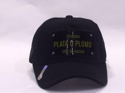 Casquette Lograda Colombia Plata O Plomo.