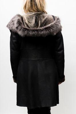 manteau peau pour femme