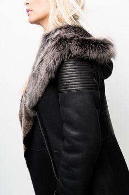 veste peau et fourrure pour femme