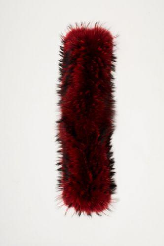 Grosse fourrure Ventiuno rouge.