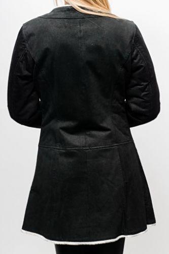 Veste peau LPB noir Diana