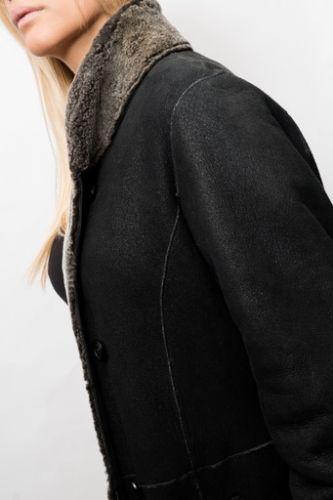 Manteau en peau Revacuir femme noir VanessaDF.