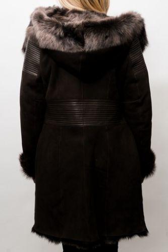 Veste peau lainée Giorgio Rouxandra hightop marron.