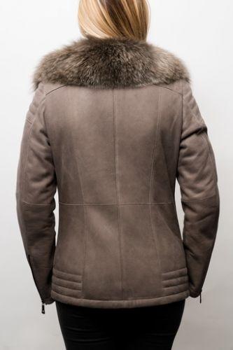 Veste peau lainée Giovanni Eva.