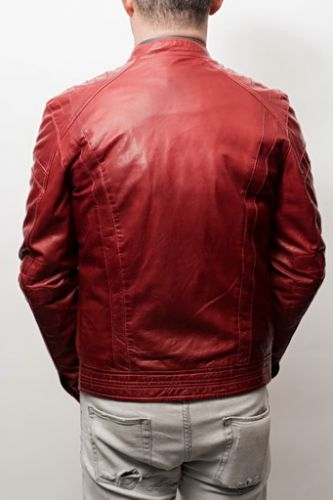 Blouson cuir Homme Daytona Mellington Red