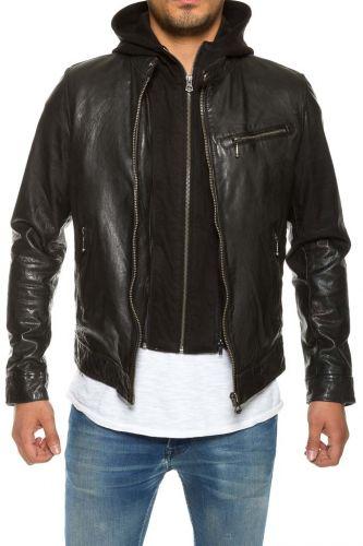 Promo Blouson cuir homme Daytona Gray noir. pas cher