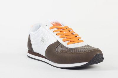 Chaussures Redskins Disca blanc et marron.