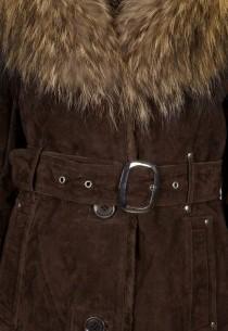 Manteau en fourrure LPB femme marron 2Berry.