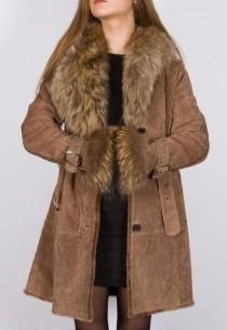 Manteau en fourrure LPB femme beige 2Berry.