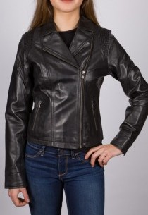Perfecto en cuir LPB femme noir Aspettaro.