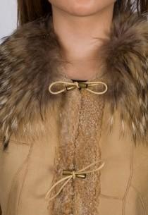Bombardier en peau Lpb femme beige Claudia.